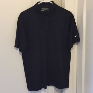 Nike men's black golf polo